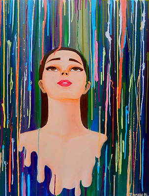Woman Painting - Melting by Ana Christian