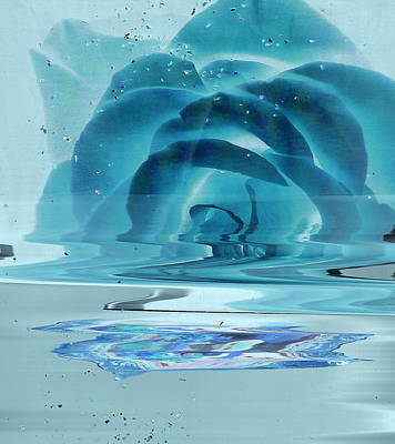 Creativity Painting - Melting Blue Rose  by Anne-Elizabeth Whiteway