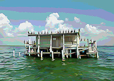 Photograph - Melting Colors No Vacancy At The Stilt House by Aimee L Maher ALM GALLERY