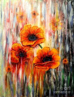 Painting - Melting Flowers by Greg Moores