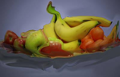 Melting Fruit Art Print by Bill Ades