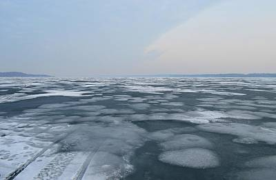 Photograph - Melting Ice Of Kempenfelt Bay  by Lyle Crump