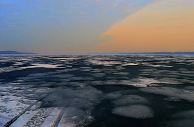 Digital Art - Melting Ice Of Kempenfelt Bay Two  by Lyle Crump