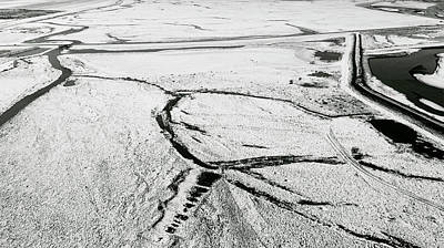 Photograph - Melting Ice Patterns In Iceland by Pradeep Raja PRINTS