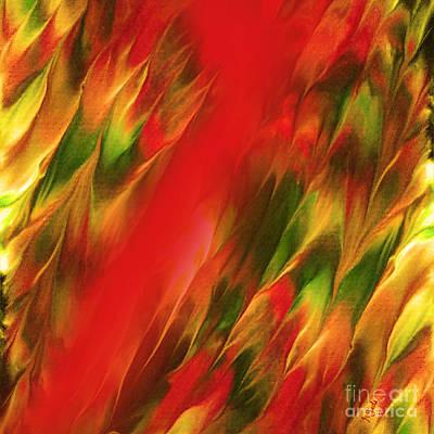 Digital Art - Melting In Red by Giada Rossi