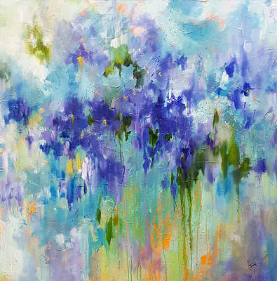 Painting - Melting Iris by Sue Dion