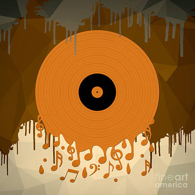 Digital Art - Melting Music by Bedros Awak