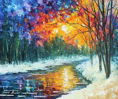 Melting River Art Print by Leonid Afremov