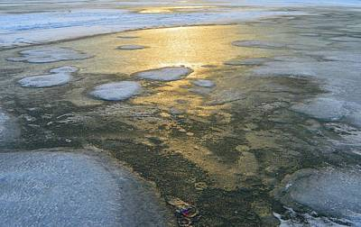 Digital Art - Melting Snow And Ice On The Lake  by Lyle Crump