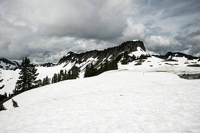 Photograph - Melting Snowfield Above Artist Point by Tom Cochran