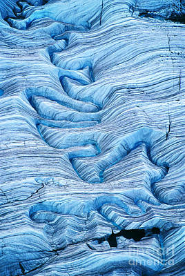 Photograph - Melting Water On Glacier, Alaska, Usa by Frans Lanting/MINT Images