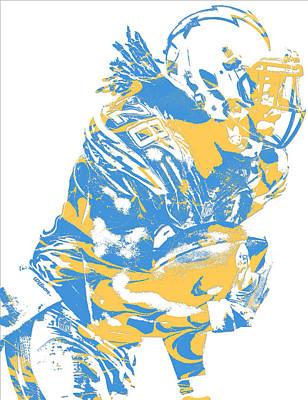 Mixed Media - Melvin Gordon Los Angeles Chargers Pixel Art 13 by Joe Hamilton