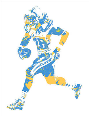 Mixed Media - Melvin Gordon Los Angeles Chargers Pixel Art 5 by Joe Hamilton