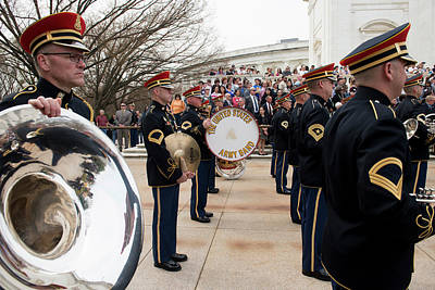 Photograph - Members Of The Army Band Participate In A Honours Wreath Laying At Tomb Of The Unknown Soldier by Paul Fearn