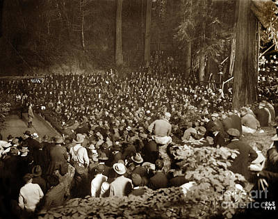 Photograph - Members Of The Bohemian Club At The Bohemian Grove by California Views Mr Pat Hathaway Archives