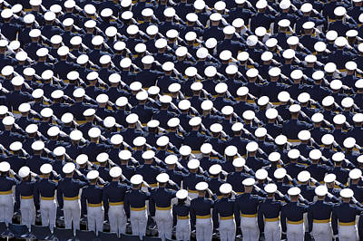 Anthem Wall Art - Photograph - Members Of The U.s. Air Force Academy by Stocktrek Images