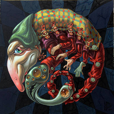 Memento Mori. Red Scorpion Art Print