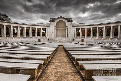 Marble Tomb-stones Photograph - Memorial Amphitheater Arlington National Cemetery 2 by Gary Whitton