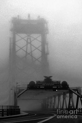 Photograph - Memorial Bridge In Morning Fog by Marcia Lee Jones