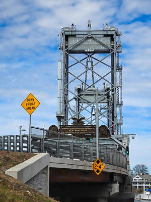 Photograph - Memorial Bridge Portsmouth  Nh by Nancy De Flon