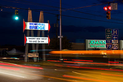 Photograph - Memorial Bridge Sign by Jonny D