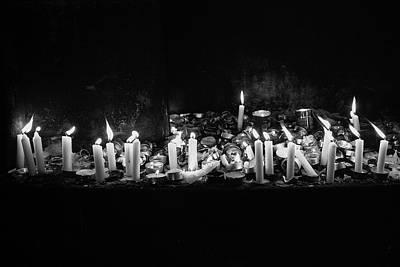 Memorial Candles II Art Print by Yoel Koskas