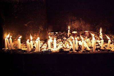 Memorial Candles Art Print