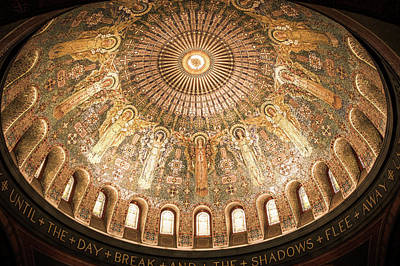 Byzantine Photograph - Memorial Chapel Dome by Art Spectrum