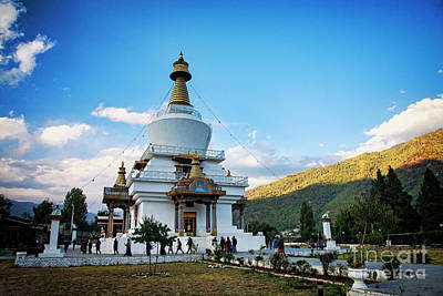 Photograph - Memorial Chorten by Scott Kemper