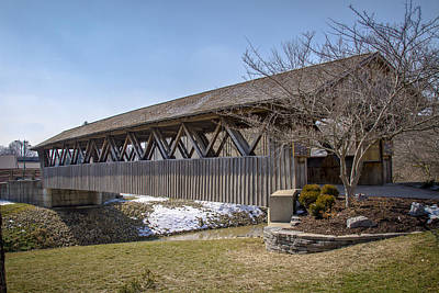 Music Royalty-Free and Rights-Managed Images - Memorial Covered Bridge  by Jack R Perry