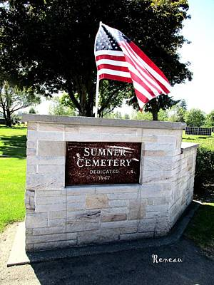Photograph - Memorial Day 2017 - Sumner W A Cemetery by Sadie Reneau