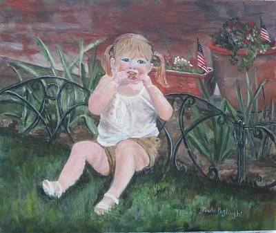 Painting - Memorial Day Bbq by Paula Pagliughi
