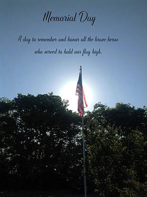 Photograph - Memorial Day Card 0102 by Ericamaxine Price