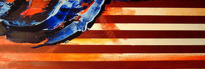 4th Of July Painting - Memorial Day Flag 2016 by Charles Jos Biviano