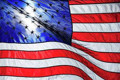 4th July Photograph - Memorial Day Flag by Todd Klassy