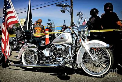 Photograph - Memorial Day Harley by Gus McCrea