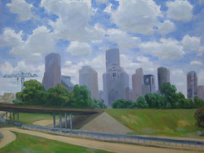 Love Making Painting - Memorial Drive Morning by Texas Tim Webb