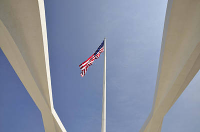 Stars And Stripes Photograph - Memorial Flag by Andy Smy