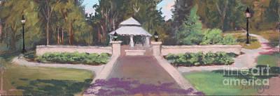Memorial Garden Lakeside, Ohio Art Print by Terri  Meyer
