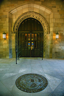 Entrance Door Photograph - Memorial Hall I by Steven Ainsworth
