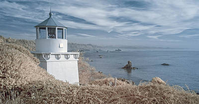 Photograph - Memorial Lighthouse In Infrared by Greg Nyquist