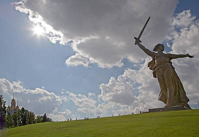 Soldiers National Cemetery Digital Art - Memorial Of The Second World War In Volgograd by Evgeny Parushin