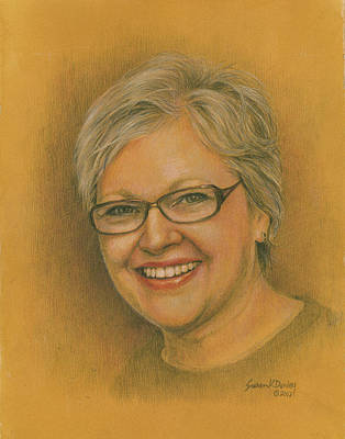 Drawing - Memorial Portrait Of Janet E. Turner by Susan Donley
