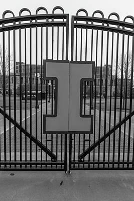 Photograph - Memorial Stadium Gate University Of Illinois  by John McGraw