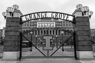 Photograph - Memorial Stadium Grange Grove by John McGraw