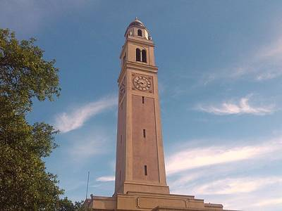 Louisiana State University Photograph - Lsu Memorial Tower by Patricia Spicuzza