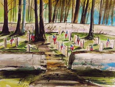 Painting - Memorials by John Williams