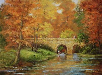 Painting - Memories At Stone Bridge by Judy Bradley
