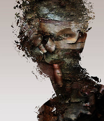 Heads Digital Art - Memories by Bojan Jevtic