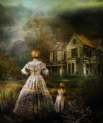 Creepy Digital Art - Memories by Mary Hood